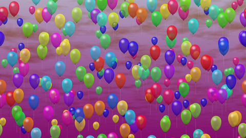 Party Balloons On Sky 2