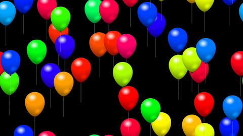 Party Balloons On Color 0