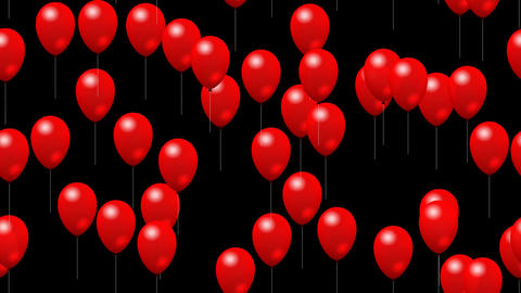 Party Balloons On Color 1