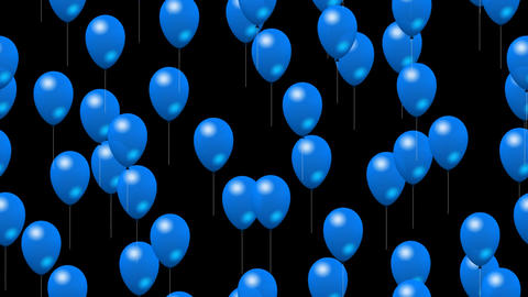 Party Balloons On Color 2