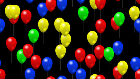 Party balloons generated seamless loop video with alpha matte Animation
