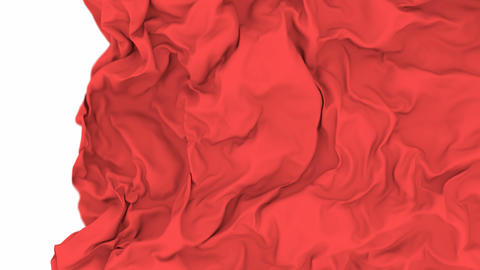 UHD shallow DOF 3D animation of the red waving cloth, alpha matte is included CG動画
