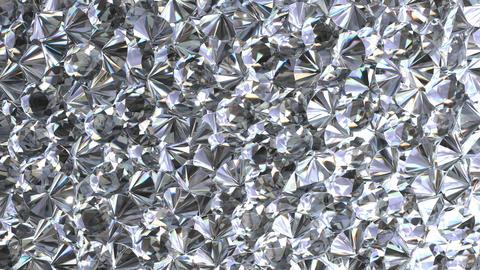 UHD looping 3D animation of the shining diamonds Animation