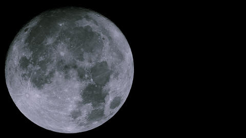 Real-time very detailed UHD extreme closeup shot of the moon ライブ動画