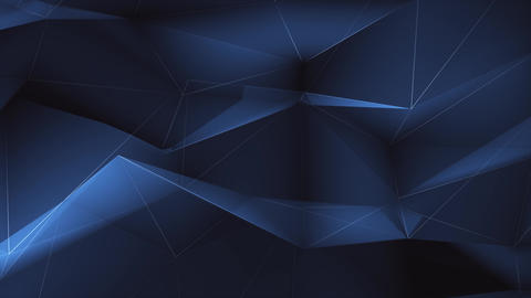 3D Abstract Plexus black and Blue geometrical Live Action