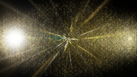 Transition of stardust that breaks with flash(Gold) Animation
