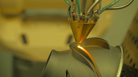 Direct metal deposition - laser melting, powder spray manufacturing technology Live Action