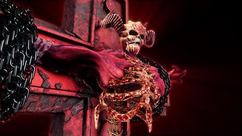 The Hell Creature On Cross VJ Loop 애니메이션