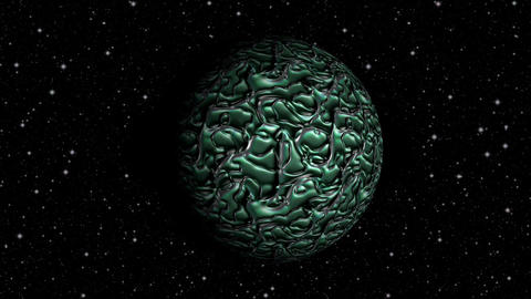 Abstract planet seamless loop rotation Animation