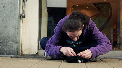 homeless count the money, counting money, check out the charity Live Action