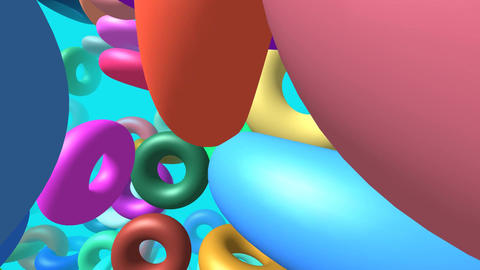Flying rings generated 3D video Animation