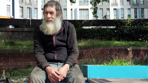 hungry homeless: dirt, loneliness, illness, discomfort, marginalization Footage