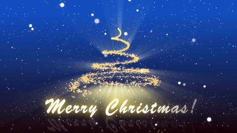 Merry Christmas Blue BG Animation