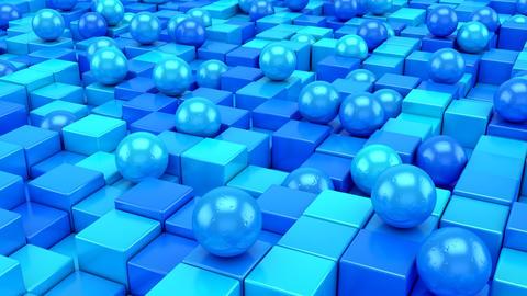 Background of Geometric Shapes Animation