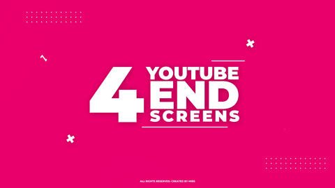 Youtube End Screens 4K V1 Premiere Pro Template