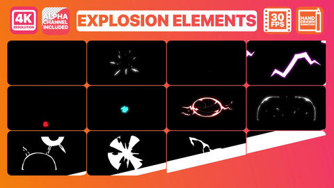 Explosion Elements And Titles After Effects Template