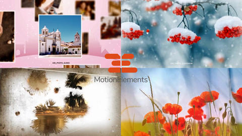 Collection 4. 4 slideshow templates in one project After Effects Template