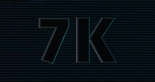7K, 7000. 3D Promotion Intro. Text Logo Animation