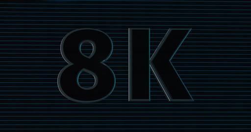 8K, 8000. 3D Promotion Intro. Text Logo Animation