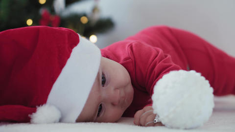 merry xmas and happy new year, infants, childhood, holidays concept - close-up 6 Acción en vivo