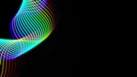 Wave of rainbow colors 애니메이션
