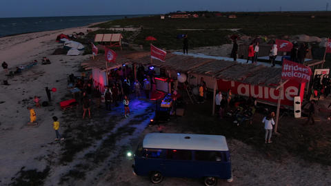 27.07.2020, Genichesk, Ukraine, people at the festival on the beach, beach party ライブ動画