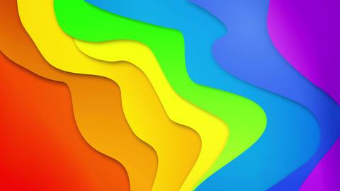4K 3D Loop animation of stripes geometric patterns ライブ動画