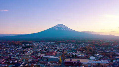 Mount Fuji on sunset at Kawaguchiko, Yamanashi, Japan ライブ動画