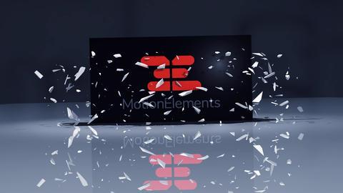 Element3D - 激しく落下してくるロゴ After Effectsテンプレート
