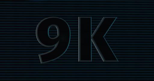 9K, 9000. 3D Promotion Intro. Text Logo Animation