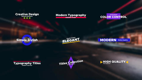 Creative Titles After Effects Template
