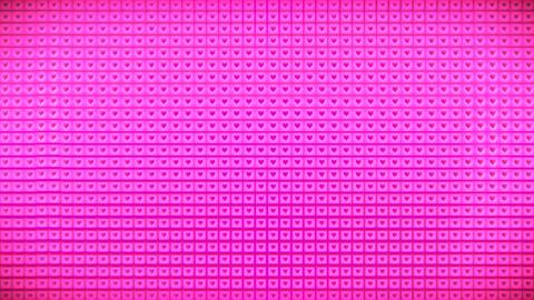 Broadcast Pulsating Hi-Tech Hearts Cubes Wall, Pink, Events, 3D, Loopable, HD 애니메이션