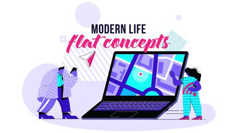 Modern life - Flat Concept After Effects Template