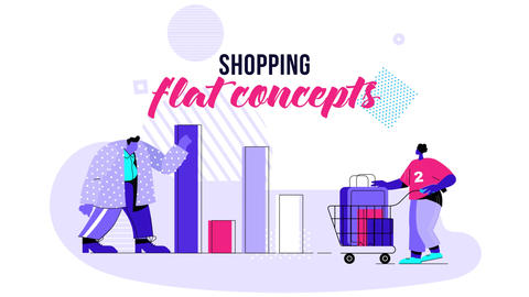 Shopping - Flat Concept After Effects Template