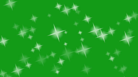 Twinkling stars motion graphics with green screen motion graphics CG動画