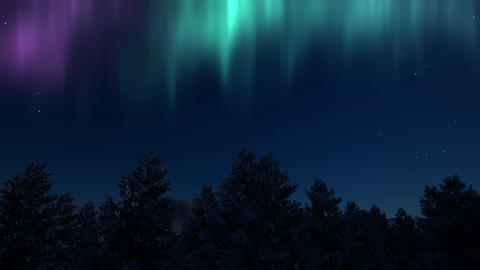 Fantasy northern lights aurora Nature scenery Live Action