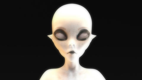 3D animation of a morphing alien face CG動画