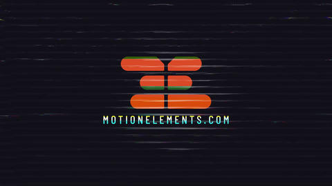 Abstract Glitch Logo After Effects Template
