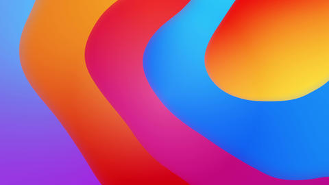 Abstract colorful geometric Fluid gradient Loop 실사 촬영