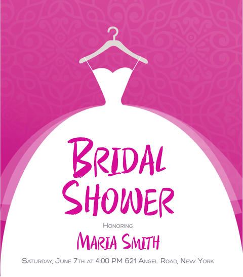 Bridal Shower Card Template / Wedding / Make your own bridal shower invitations! After Effects Template