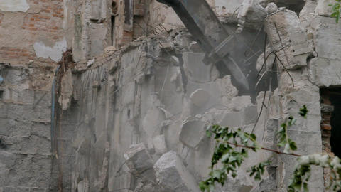 Building demolition site Footage