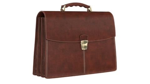Briefcase leather classic, Stock Animation