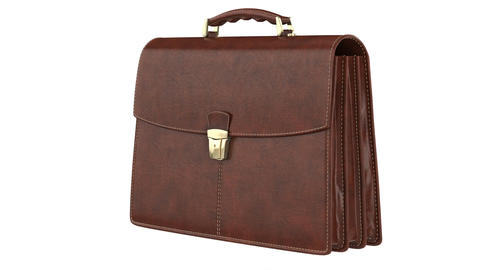 Briefcase leather classic Animation