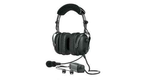 Headphones black matt aviation Animation