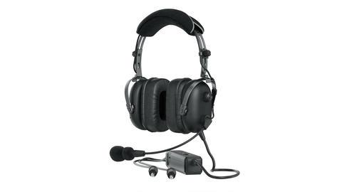 Headphones black matt aviation Animation