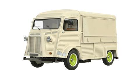 Food truck eatery car van Animation