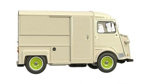 Food truck eatery car van, Stock Animation