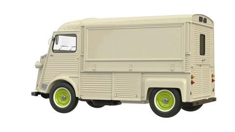 Food truck eatery car van Stock Video Footage