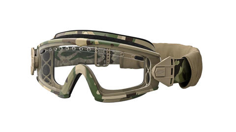 Military goggles, camouflage Animation