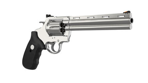 Revolver firearm gun chrome Animation